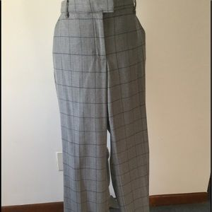 Talbot Italian Flannel Grey with Blue line pants.